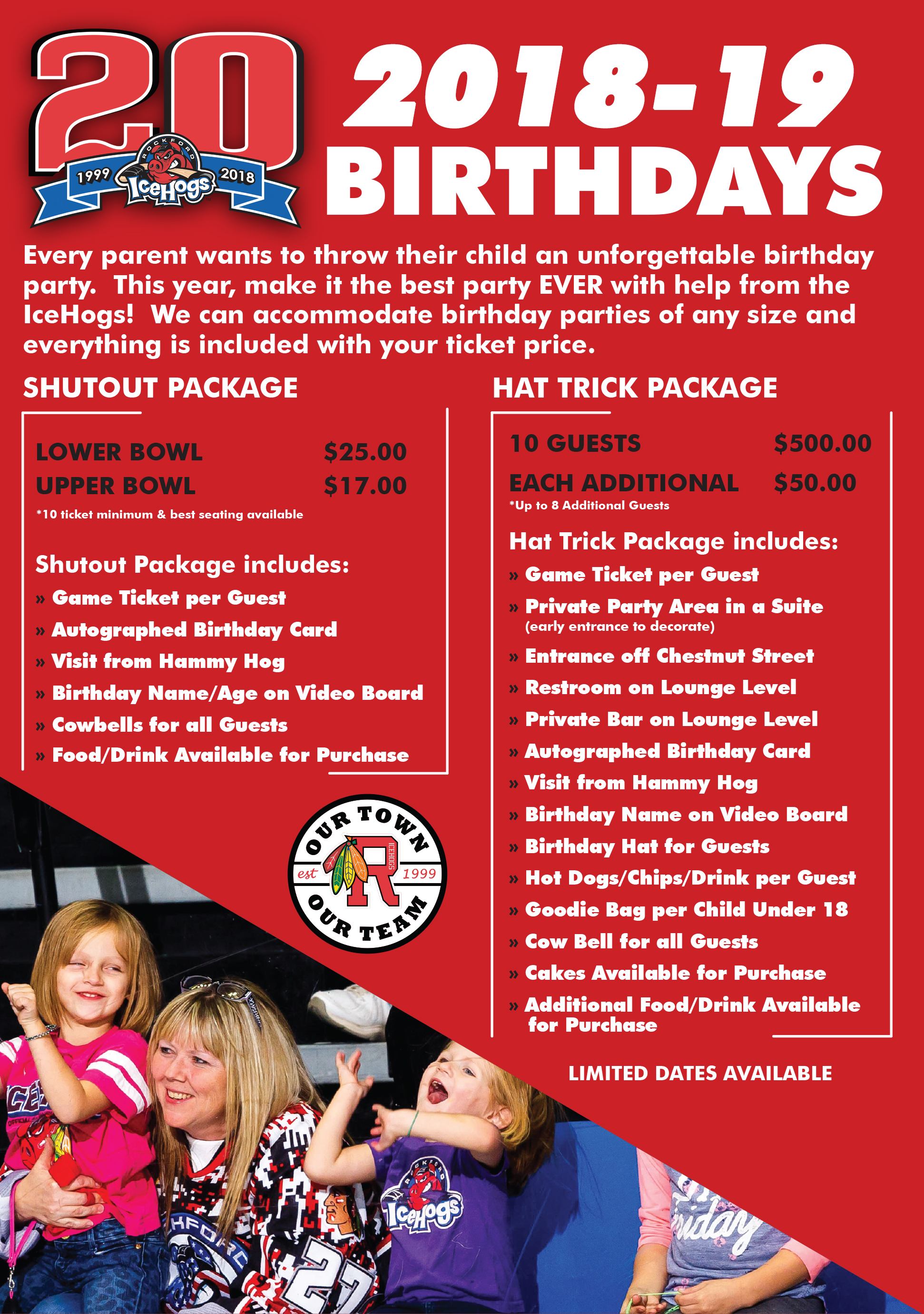 Official Website Of The Rockford Icehogs Birthday Parties