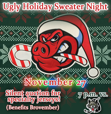 UGLY SWEATER NIGHT RIGHT RAIL