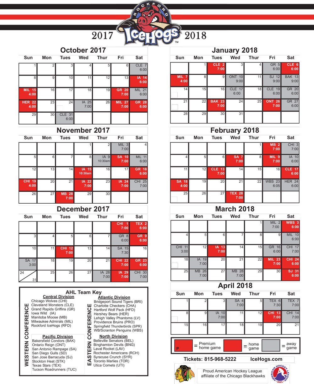 icehogs.com: Download Schedule