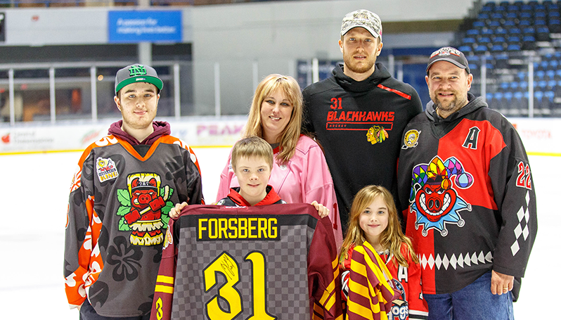 624995d3aa8 ICEHOGS RAISE MORE THAN $70,000 THROUGH ANNUAL JERSEY AUCTION