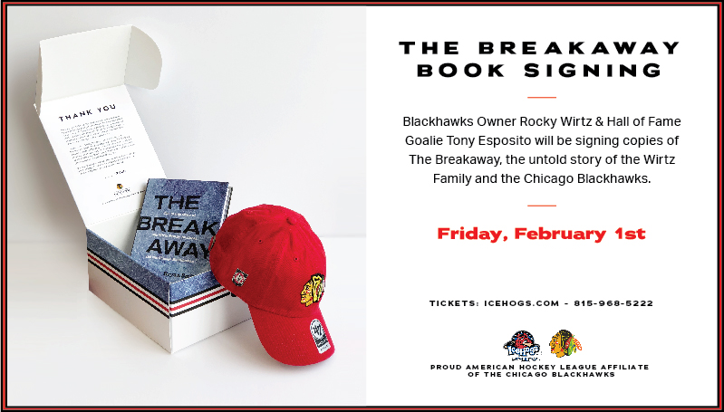 04bfd908ecd BLACKHAWKS CHAIRMAN ROCKY WIRTZ TO HOST BOOK SIGNING AT ICEHOGS GAME ON  FEB. 1