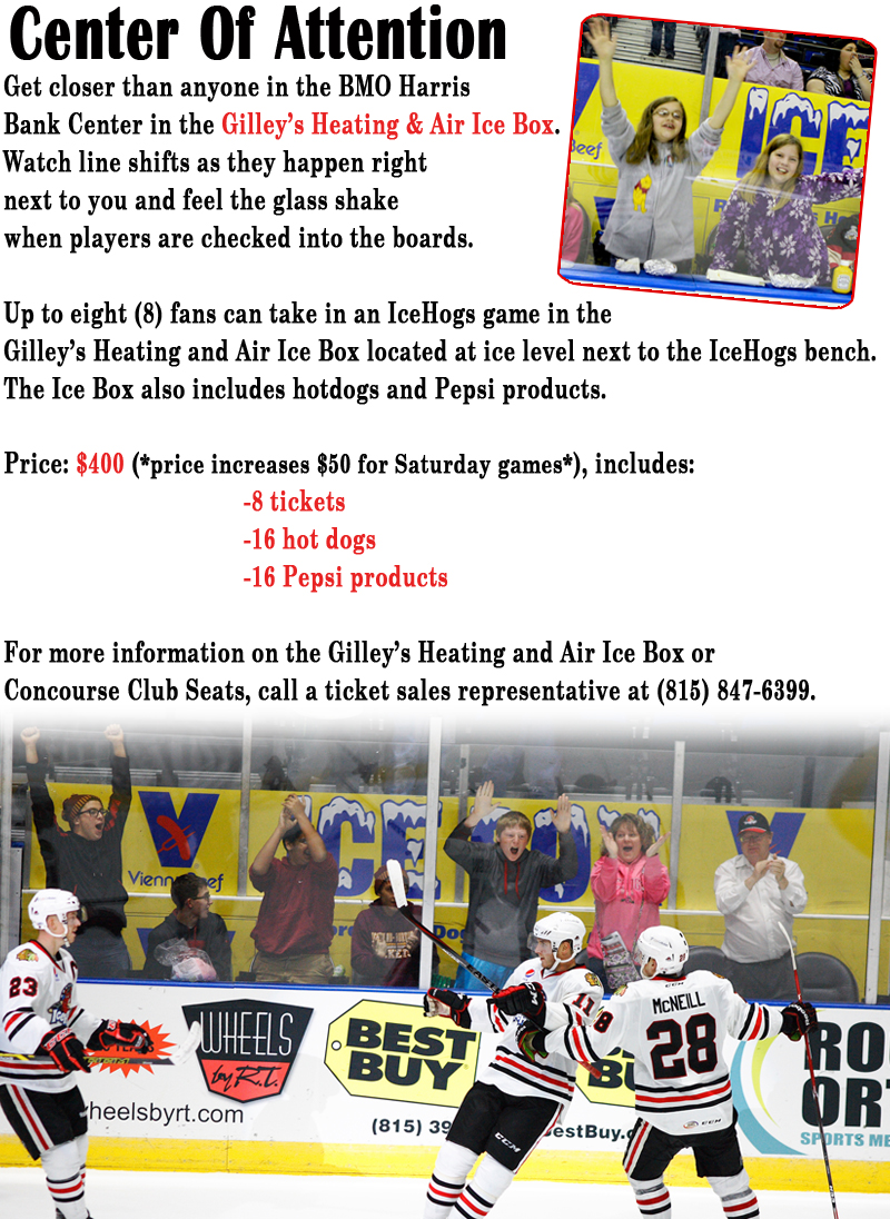 Official Website Of The Rockford Icehogs Premium Seating